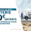 BATTERIE 30 € OFFERTS